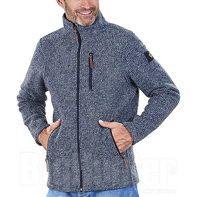 Giacca misto lana Kalibro Woolwind Pepper Blu