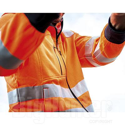Giacca con Cappuccio Diadora Utility Hoodie Zip Orange HV