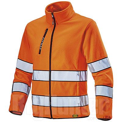Giacca Diadora Utility Sweat Pile Orange HV