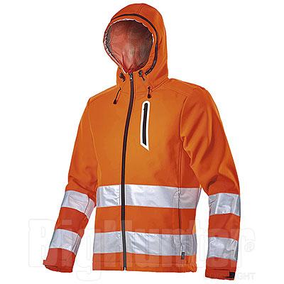 Giacca con Cappuccio Diadora Utility Softshell Orange HV