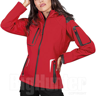 Giacca Donna Softshell Tech 3 Layer Nordic Red