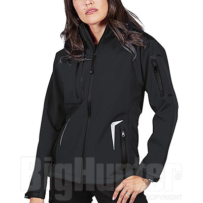Giacca Donna Softshell Tech 3 Layer Nordic Black