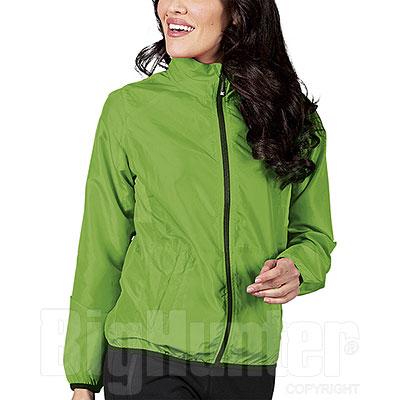 Giubbino Donna RipStop Impermeabile Green Fluo Cerniere YKK