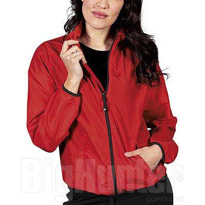 Giubbino Donna RipStop Impermeabile Red Cerniere YKK