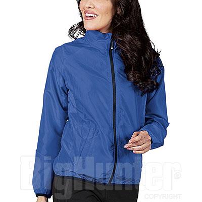 Giubbino Donna RipStop Impermeabile Light Blu Cerniere YKK