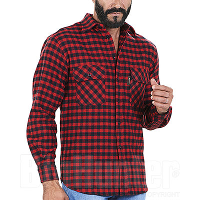 Camicia uomo Kalibro Winter Wool Check Red Black