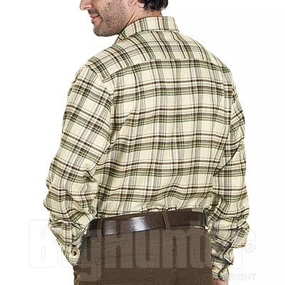 Camicia flanella uomo Kalibro Flirt Flannel Beige