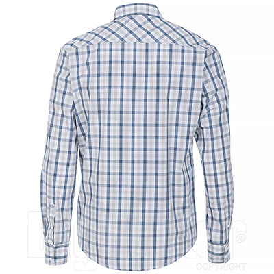 Camicia Jeep ® Cotton Check Light Grey/Indigo original