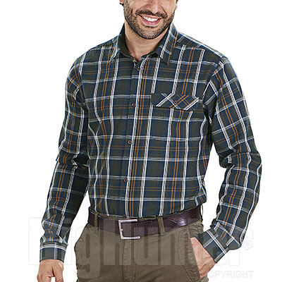 Camicia flanella uomo Seeland Gibson Carbon Blu Check