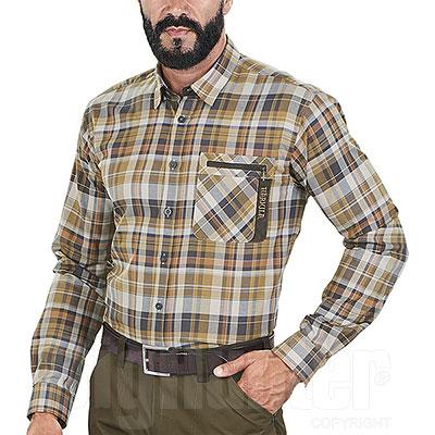 Camicia uomo Härkila Newton Tapenade Check