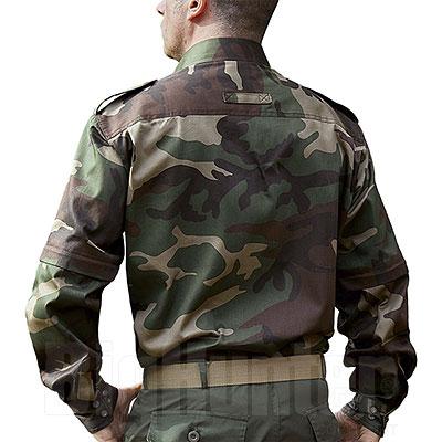 Camicia uomo Mimetica Woodland Puro Cotone