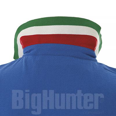 Polo uomo Italia Royal Bicolor