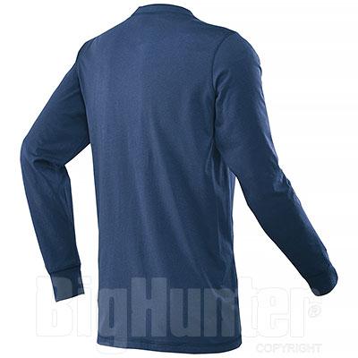 T-Shirt Manica Lunga Henley Navy