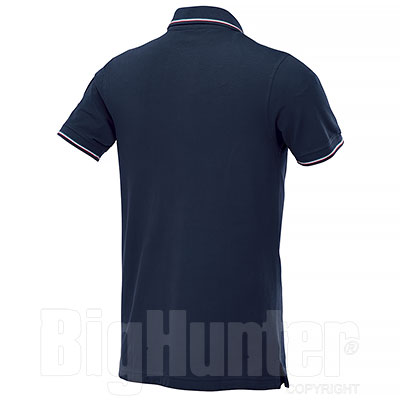 Polo piquet Flag Italy Blu