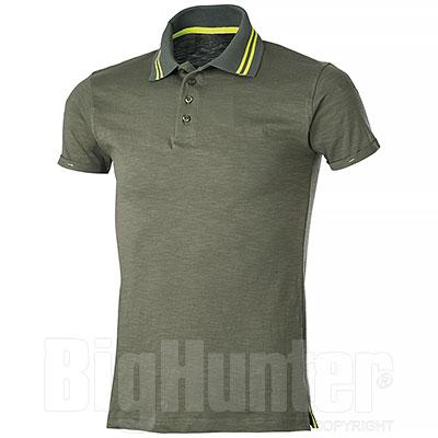 Polo uomo manica corta Tenerife Army Green-Yellow Fluo