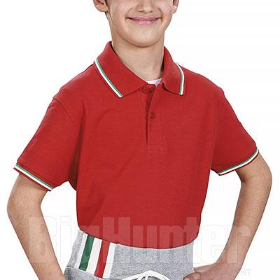 Polo Bambino Italy Red Piquet