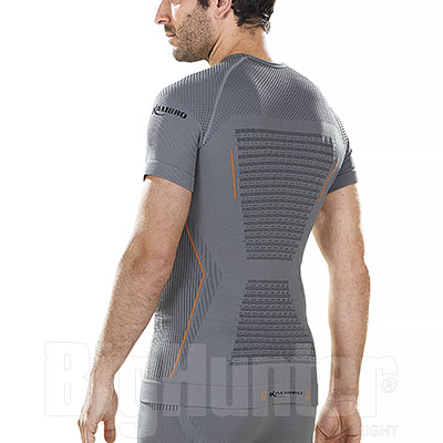 Maglia Intima termica Kalibro Dryarn Grey-Orange Winner