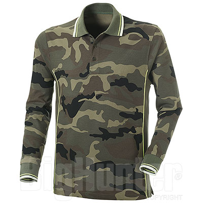Polo piquet Melt Camouflage-Army Green M/L