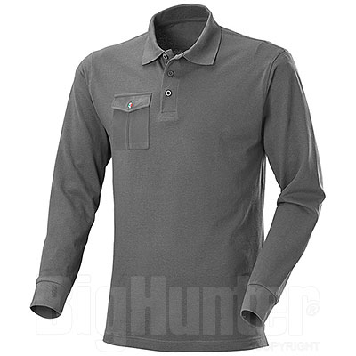 Polo piquet M/L One Pocket Dark Grey