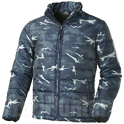 Giacca Imbottita Camouflage Blu