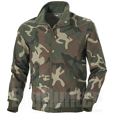 Giacca Softshell uomo Bruges Camouflage Green