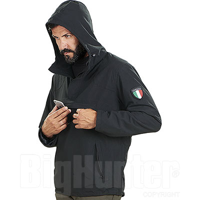 Giacca Uomo Kalibro Anorak Waterproof Black