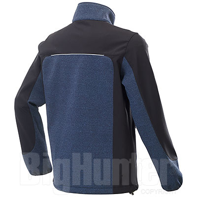 Giacca Softshell uomo Tre Strati Ray Blu/Black