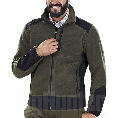 Pile Kalibro Premium Fleece Softshell Full Zip Green