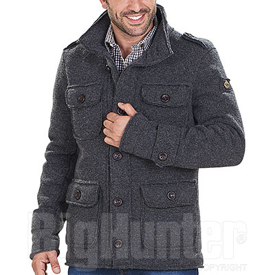 Giacca uomo misto lana Kalibro Wool Point Antracite Mélange