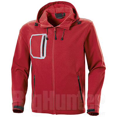 Giacca Softshell 2 Layer Red-Black