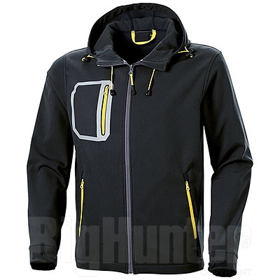 Giacca Softshell 2 Layer Black-Yellow