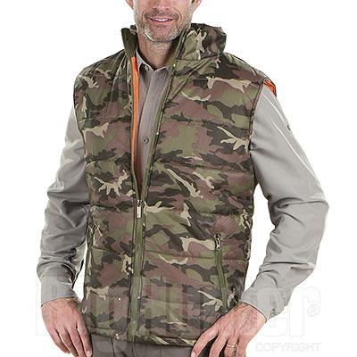 Gilet Imbottito New Camouflage Green