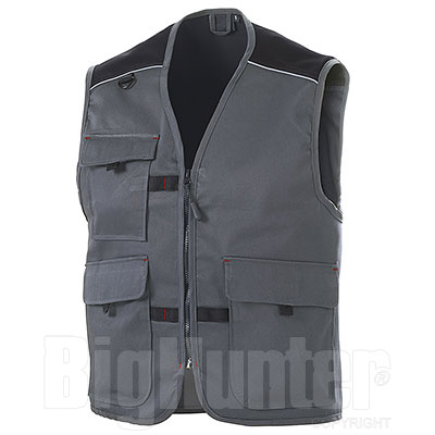 Gilet  Professional da Lavoro Big Pockets Grey