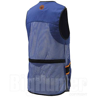Gilet Tiro Beretta Full Mesh Blu Orange