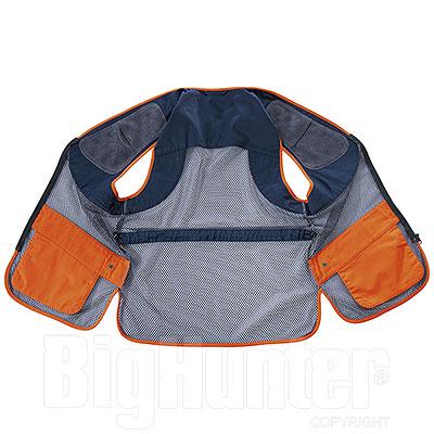 Gilet da Tiro Beretta Full Mesh Blu Total Eclipse Orange