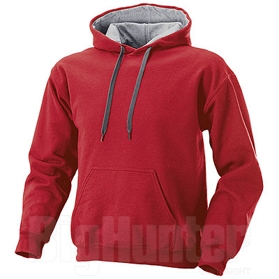 Felpa Contrast Red-Grey