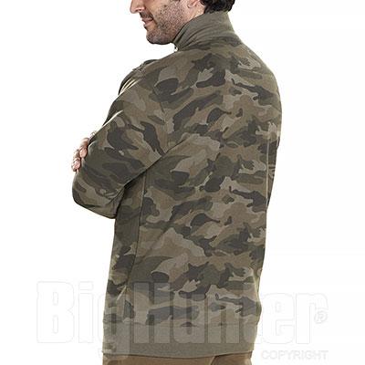 Felpa uomo Lupetto Mezza Zip Camouflage Green 280 g/m²