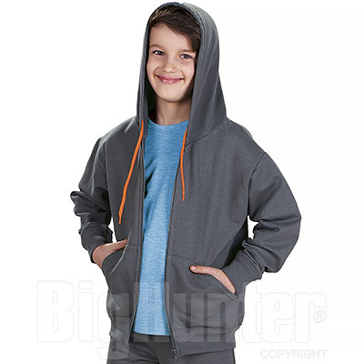 Felpa Bambino Grey Orange Fluo