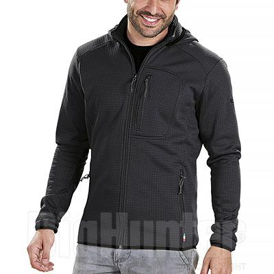 Maglia con Cappuccio Kalibro Fleece Microsquares Black