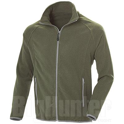 Pile uomo Nordic Army Green Full Zip