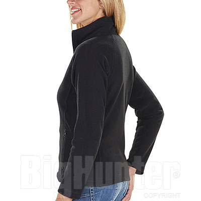 Pile Donna Full Zip Kelly Black