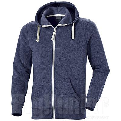 Felpa con cappuccio Full Zip Cotton Trend Blu
