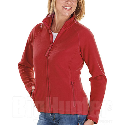 Pile Donna Full Zip Kelly Red