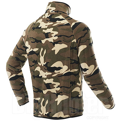 Pile uomo Nordic Camouflage Green Full Zip