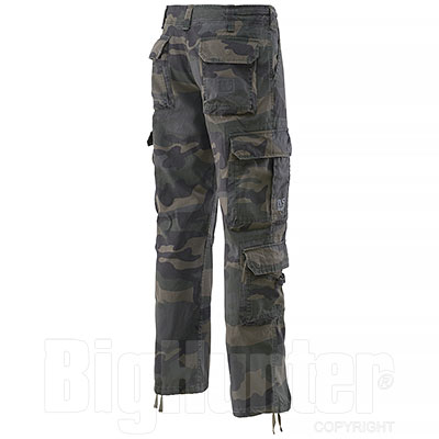 Pantaloni da caccia Airborne Black Camo