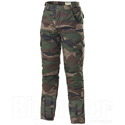 Pantaloni da caccia mimetici Imbottiti Popeline
