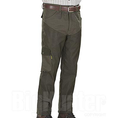 Pantaloni caccia Kalibro Chaps Upland Green Canvas e Cordura