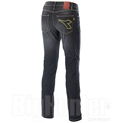 Jeans Diadora Utility Denim Stone Wash 5pkt Black Elasticiz.
