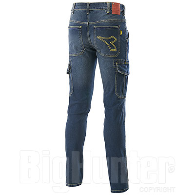 Jeans uomo Diadora Utility Cargo Stone Blu Elasticizzati