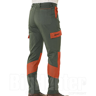 Pantaloni Kalibro Hunter Cotton Stretch Green Cordura Orange